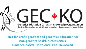 Genetics Education Canada – Knowledge Organization (GEC-KO)